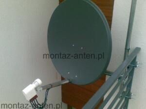 Antena satelitarna zamontowana na balkonie Warszawa Ursynów
