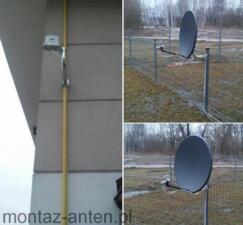Montaż anteny satelitarnej Sulejówek + antena LTE Cyfrowego Polsatu